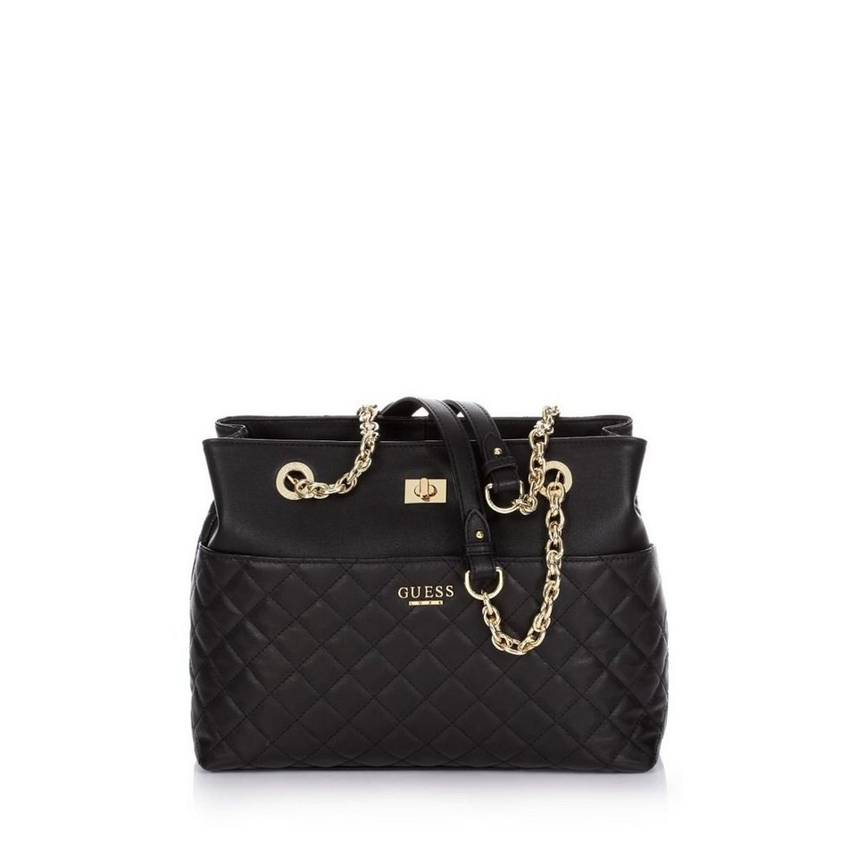 Guess Tasche »Suave Quilted Carryall« in Schwarz