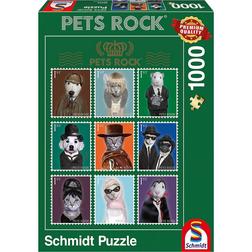 Schmidt Spiele Pets Rock - Kino Puzzle 1000 Teile