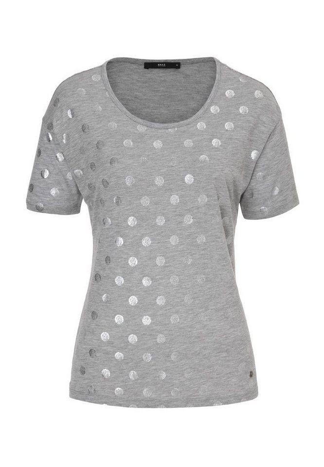 BRAX T-Shirt »CIRA« in STONE MEL.