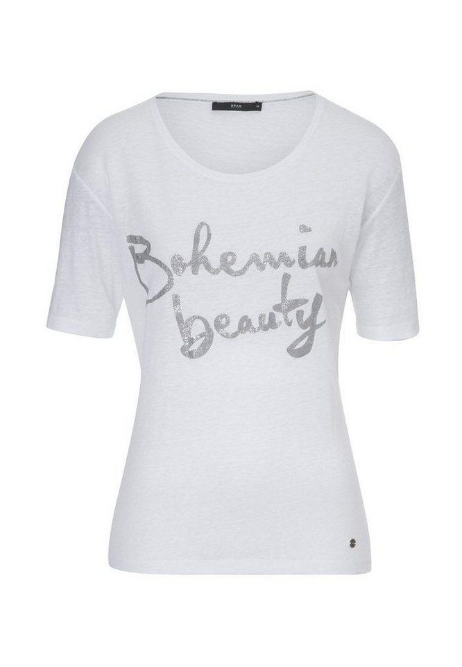 BRAX T-Shirt »CORA« in WHITE