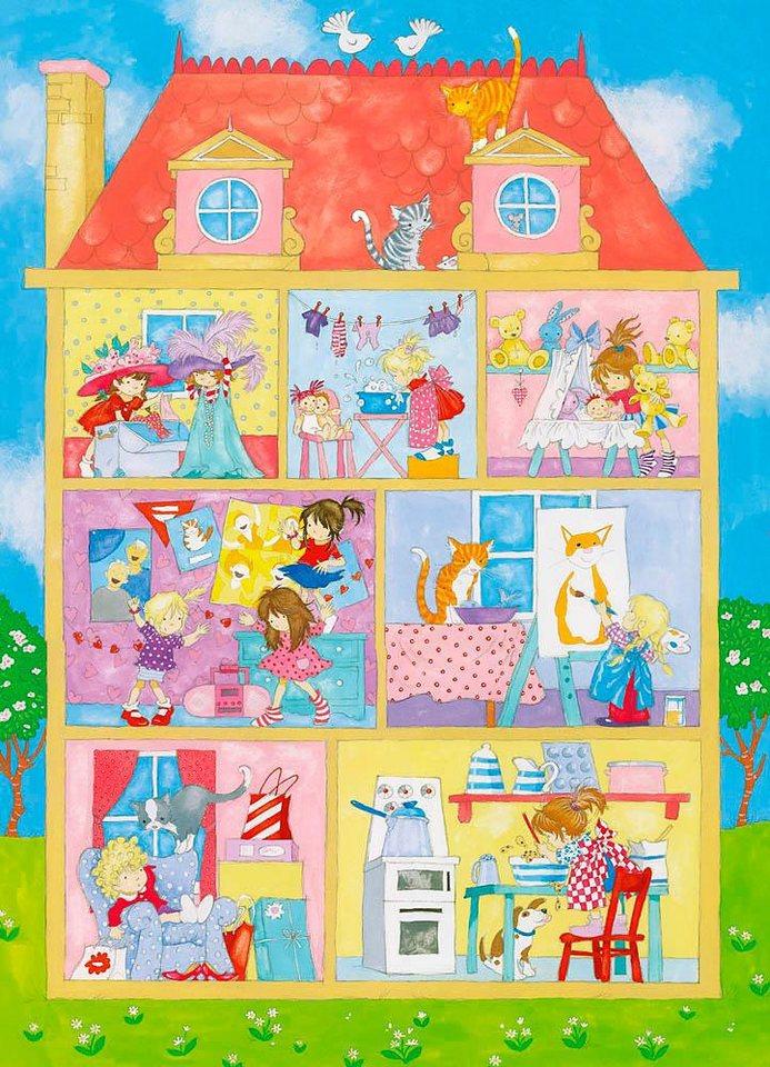 Home affaire Fototapete »Es ist eine Welt für Mädchen«, 183/254 cm in bunt