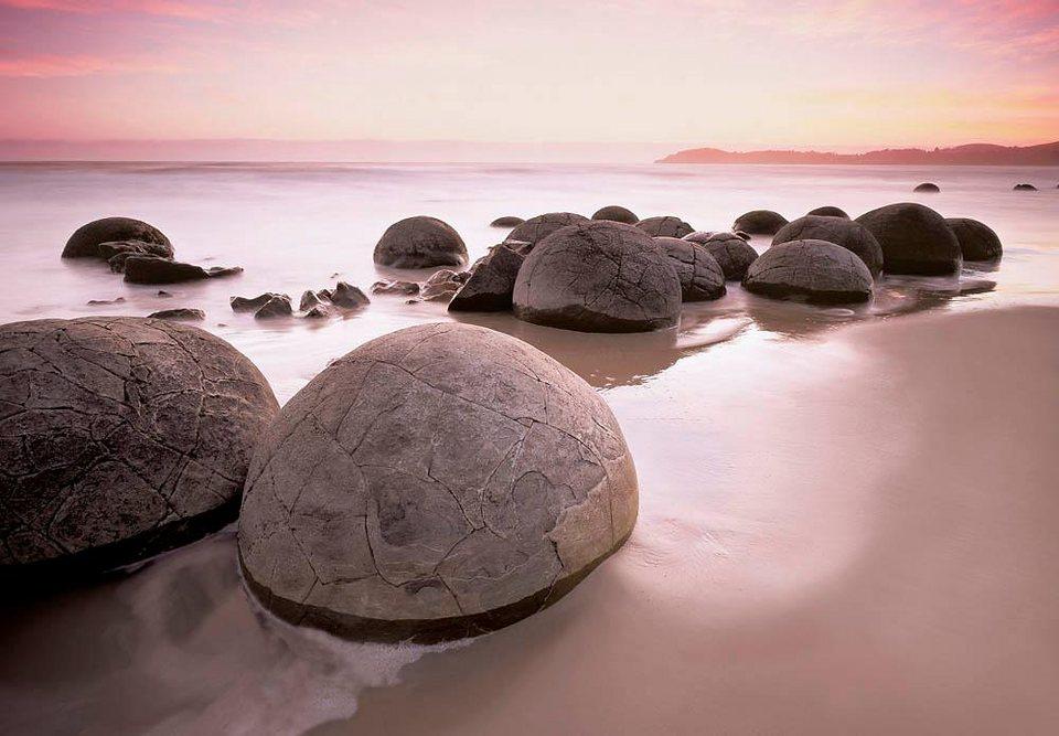 Home affaire Fototapete »Moeraki Boulders auf Oamaru«, 366/254 cm in beige