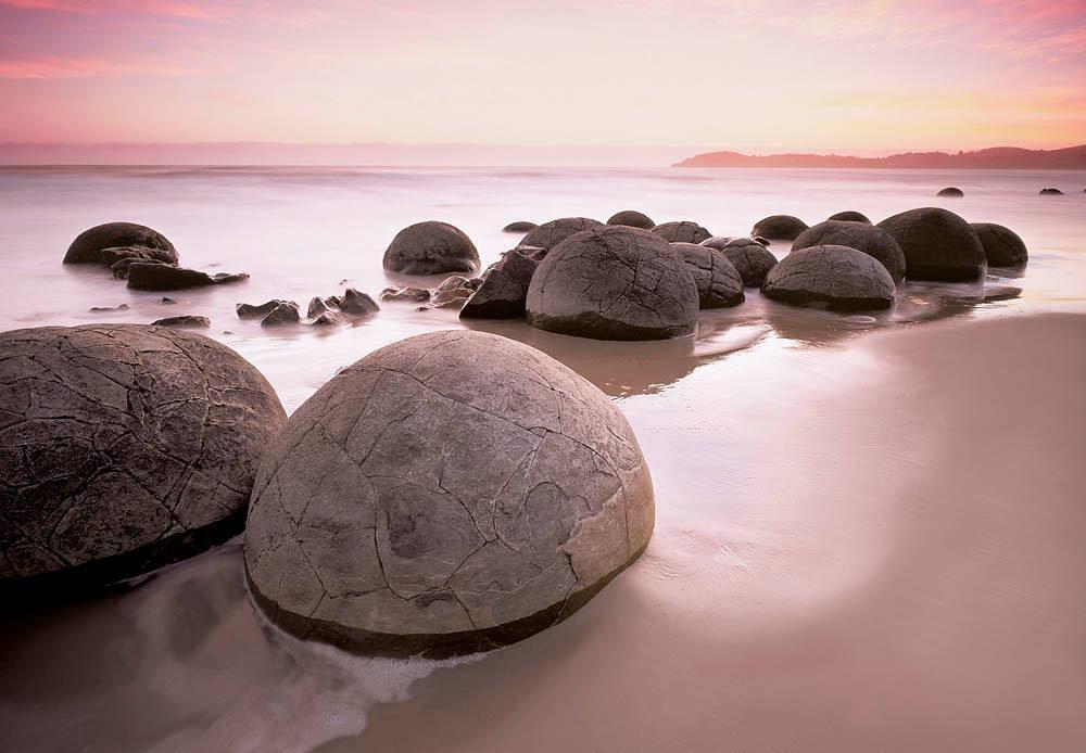 Home affaire Fototapete »Moeraki Boulders auf Oamaru«, 366/254 cm