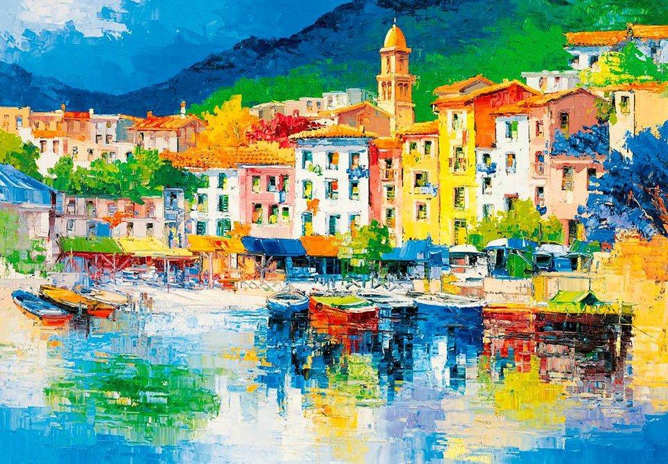 Home affaire Fototapete »Riviera Ligure«, 366/254 cm in bunt