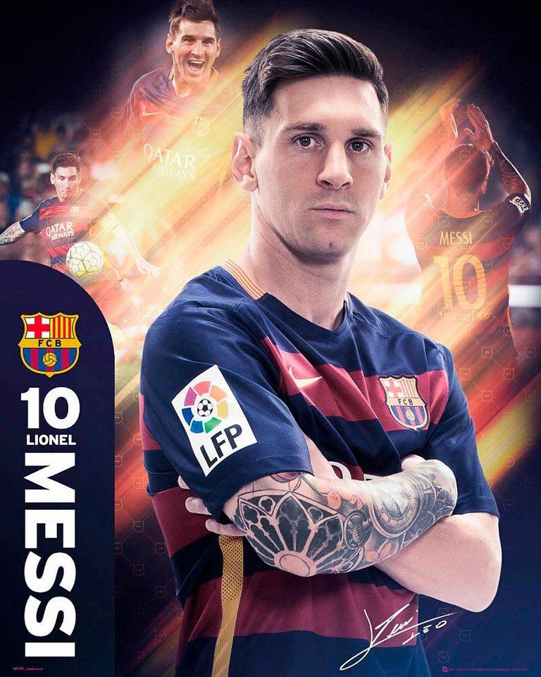 Home affaire Deco Panel »Messi Barcelona«, 40/50 cm in bunt