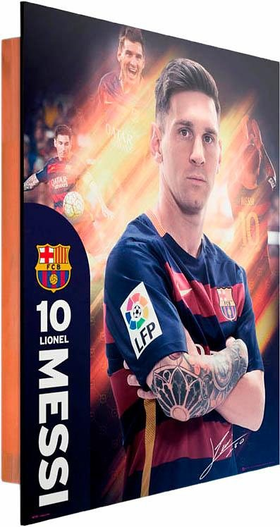 Home affaire Deco Panel »Messi Barcelona«, 40/50 cm in bunt