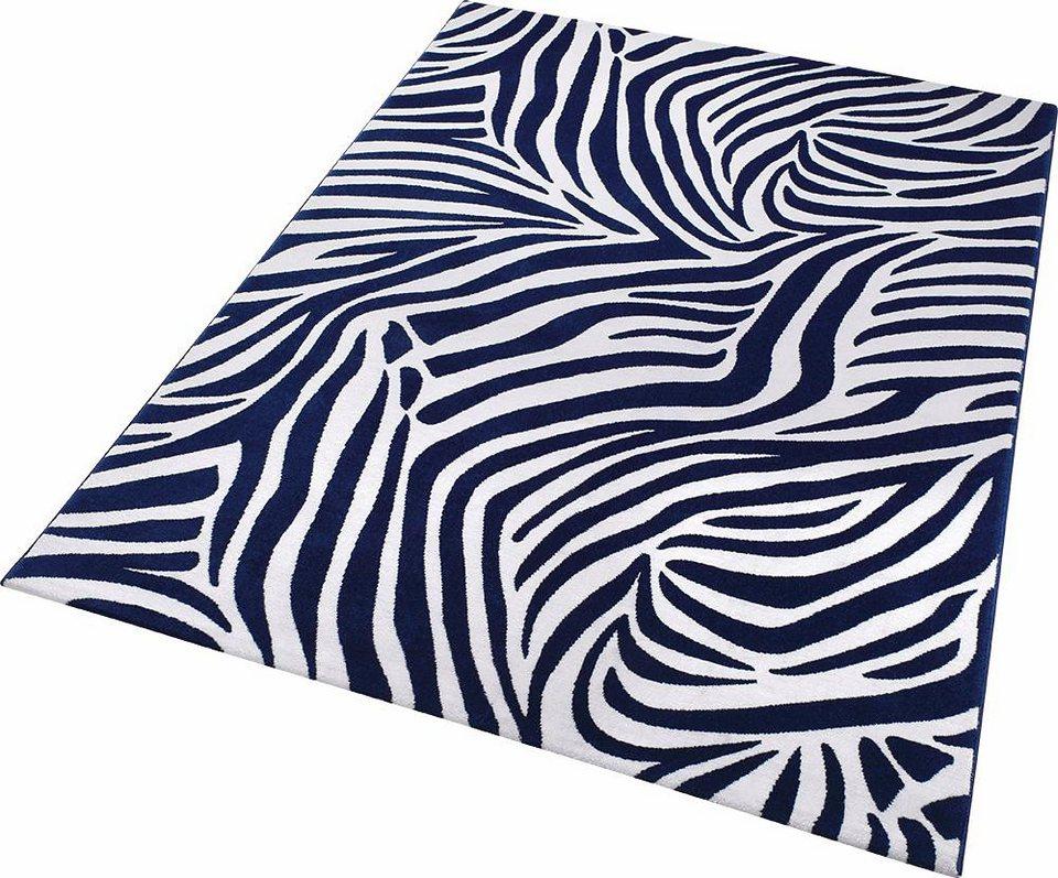 Teppich, Wecon Home, »Zebra«, Animalprint in blau