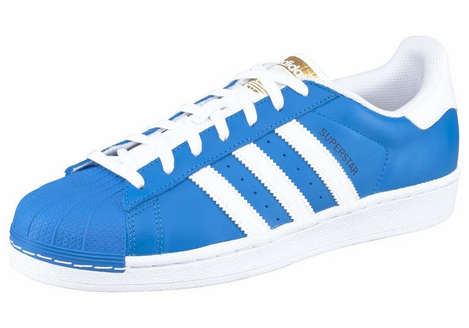 adidas Originals »Superstar« Sneaker Unisex in blau-weiß
