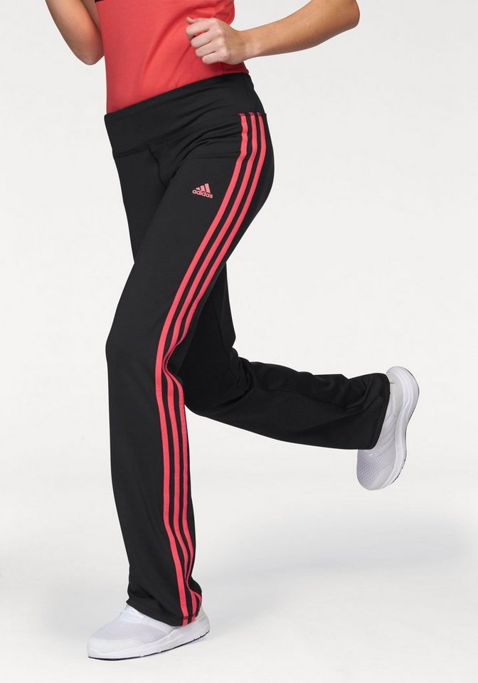 adidas Performance BASIC 3S PANT Jazzpants in Schwarz-Rot