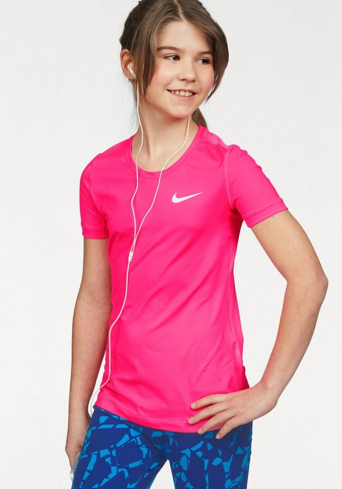 Nike Funktionsshirt »PRO DRI-FIT TOP SHORT SLEEVE« in pink