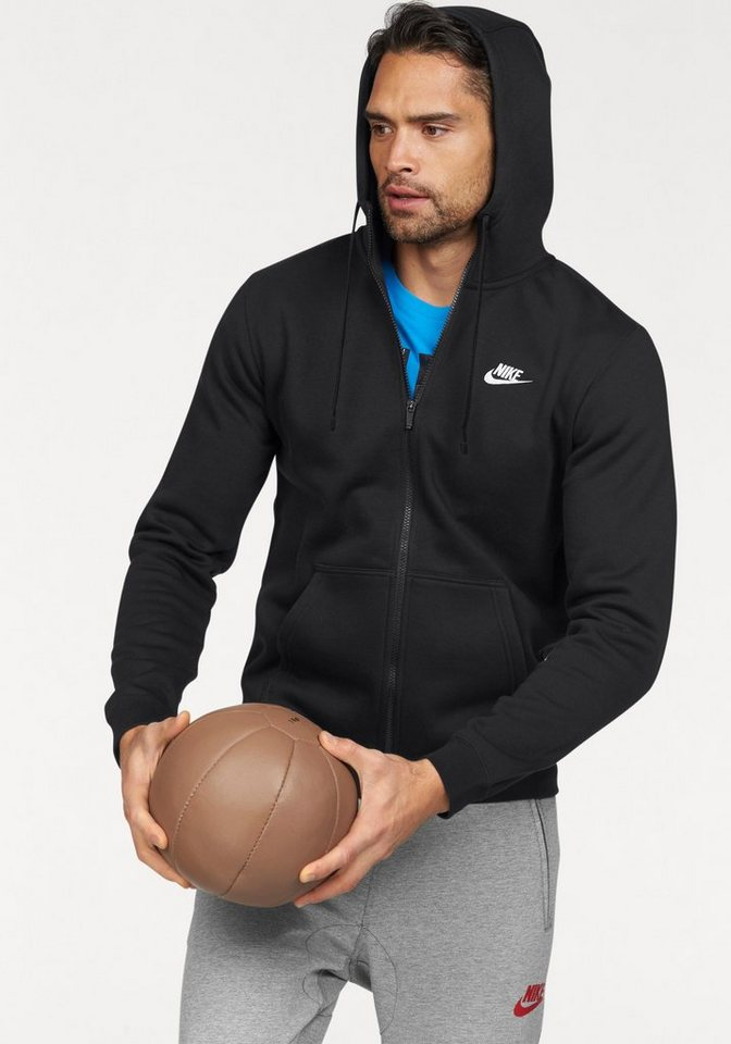 Nike Kapuzensweatjacke »NSW HOODIE FULLZIP FLEECE CLUB« in schwarz