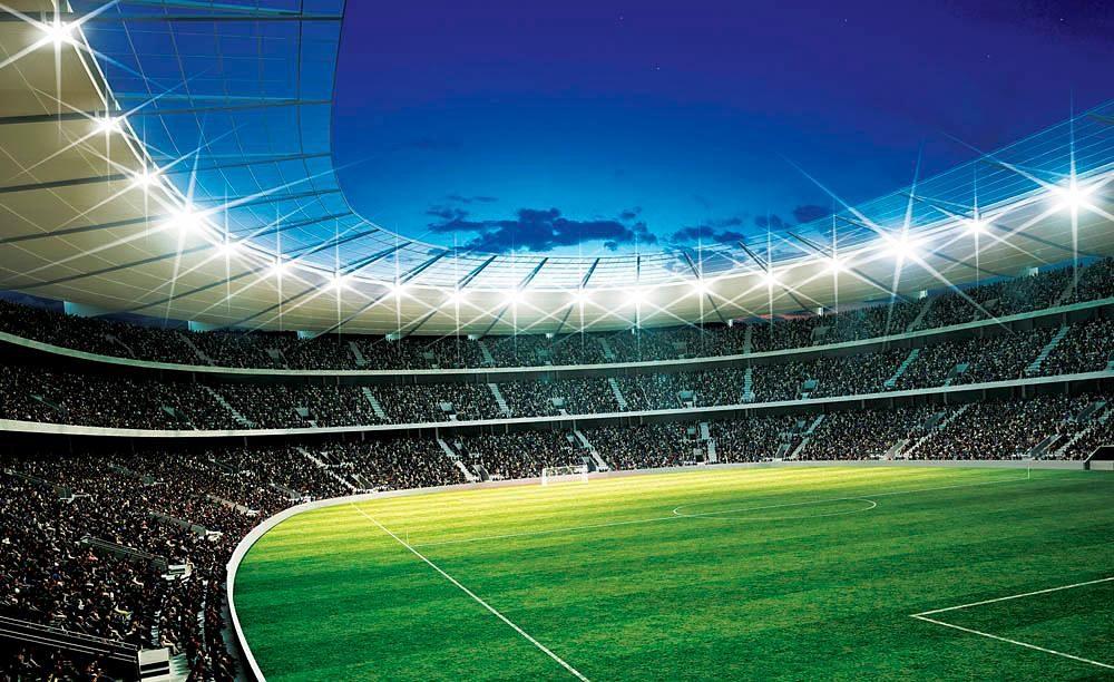 Home affaire Fototapete »Fußballstadion«, 254/184 cm