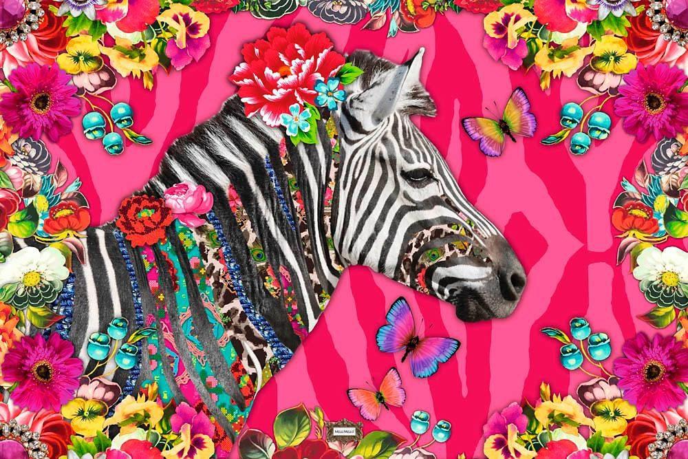 Home affaire Deco Panel »Melli Mello - zebra 2.0«, 90/60 cm