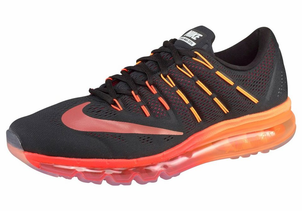 Nike »Air Max 2016« Laufschuh in schwarz-neonorange