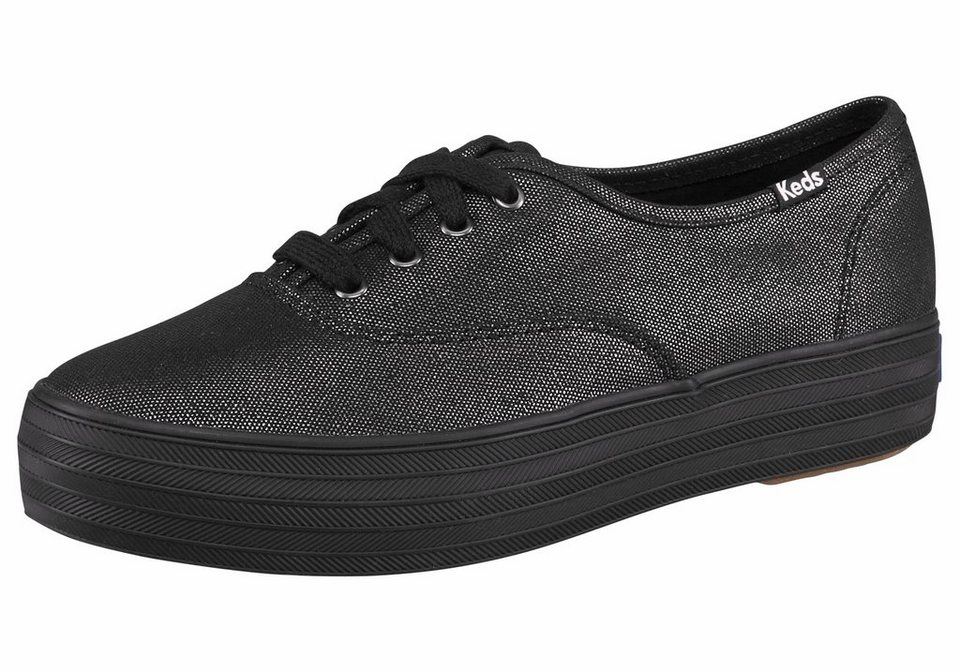 Keds »Triple Metallic Canvas« Sneaker in schwarz-metallisierte Fasern