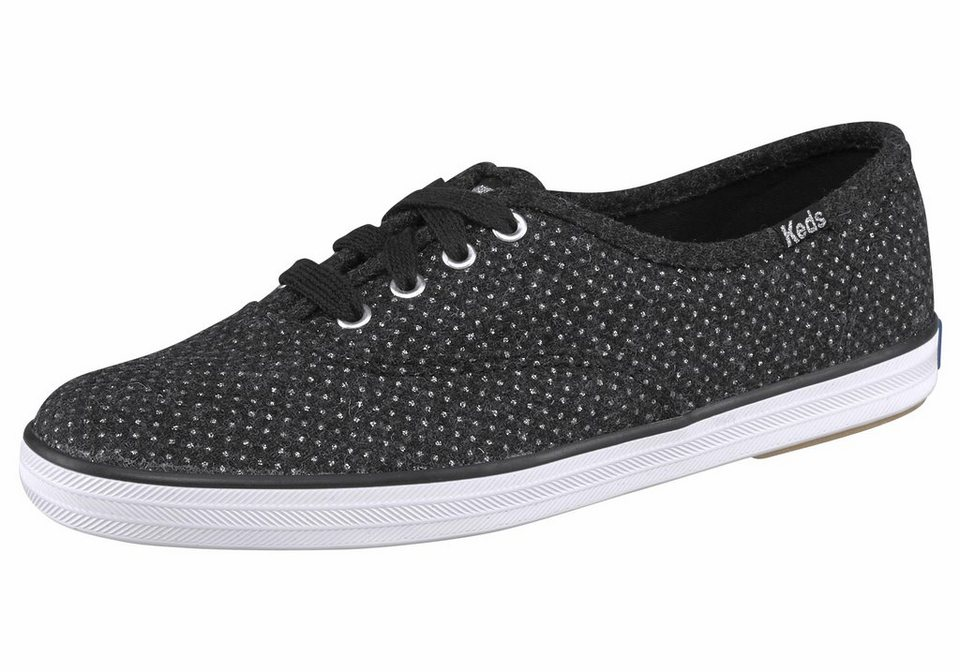 Keds »Champion Glitter Wool« Sneaker in schwarz-glänzend