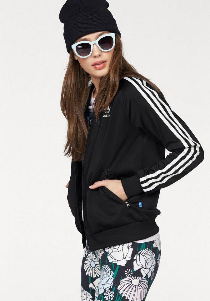adidas Originals Trainingsjacke in schwarz
