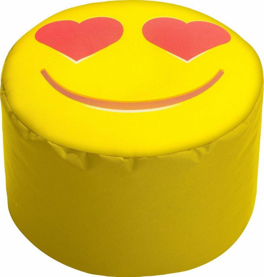 Sitting Point Sitzsack »DotCom SMILE« in Herzaugen