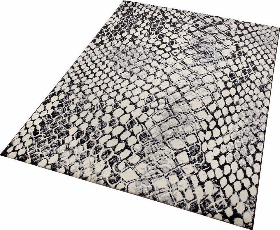 Teppich, Wecon Home, »Snake«, Schlangen-Optik in schwarz