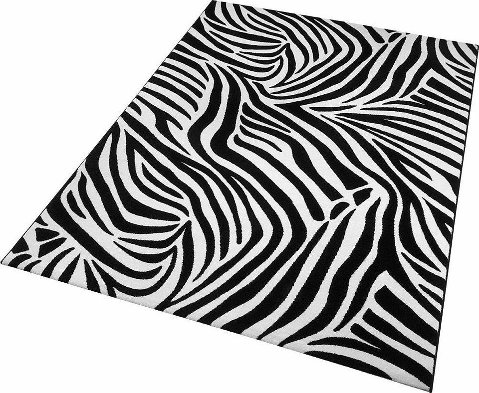 Teppich, Wecon Home, »Zebra«, Animalprint in schwarz