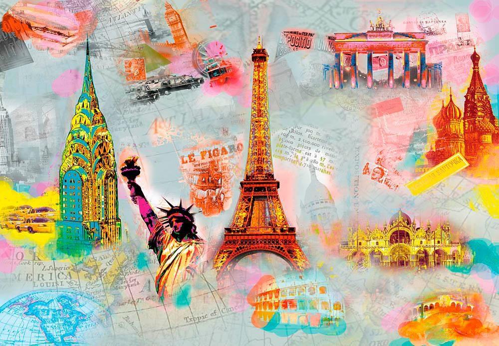 Home affaire Fototapete »Auf der ganzen Welt«, 366/254 cm