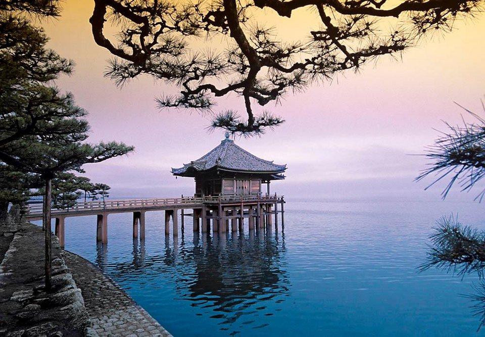 Home affaire Fototapete »Zen - Ukimidou Tempel«, 366/254 cm in bunt