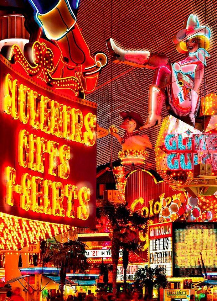 Home affaire Fototapete »Zentrum Las Vegas«, 183/254 cm in bunt