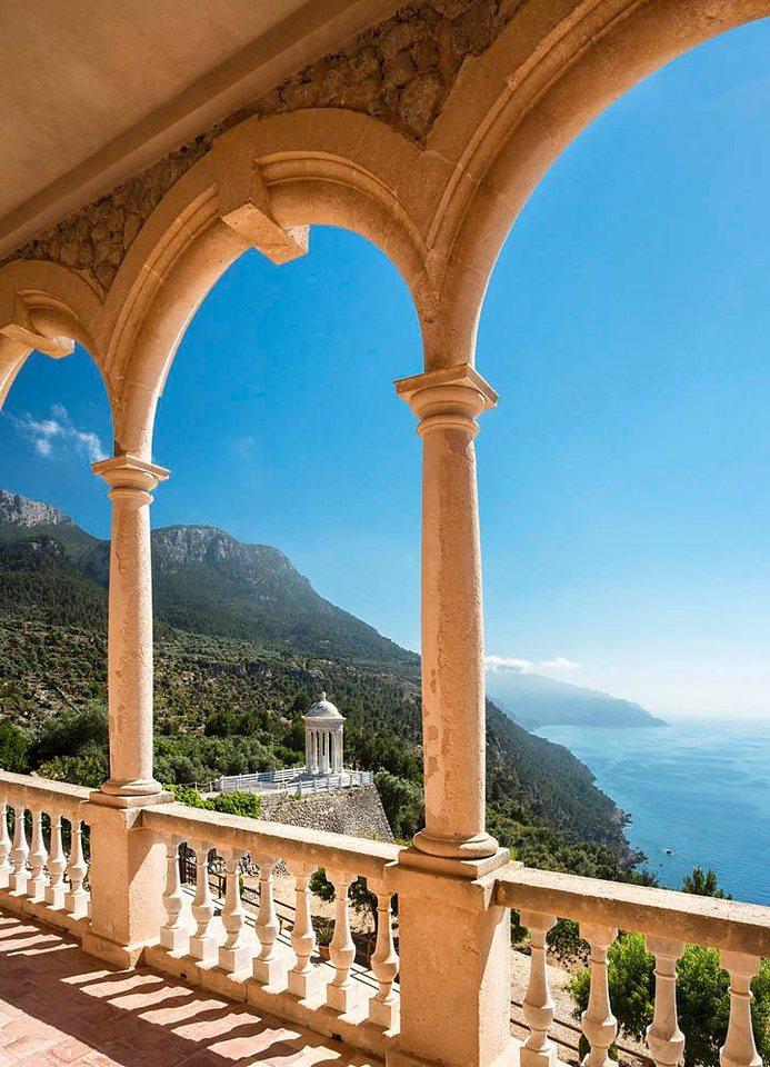 Home affaire Fototapete »Insel Mallorca«, 183/254 cm in blau/beige