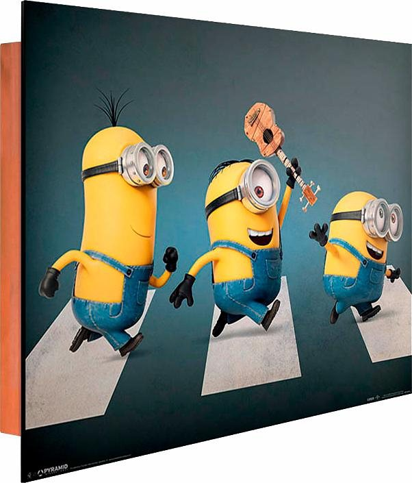 Home affaire Deco Panel »Minions«, 50/40 cm in grau/gelb