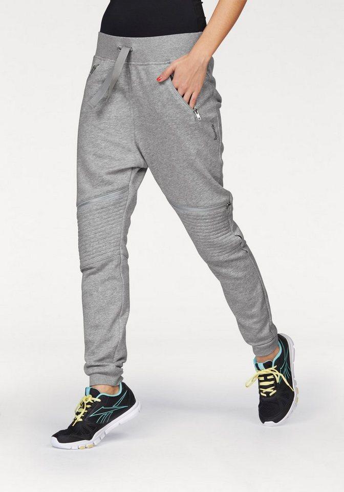 Reebok Jogginghose »Dance Knit Moto Pant« in grau
