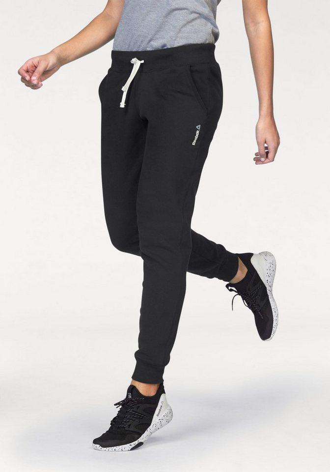 Reebok Jogginghose »Elements Fleece Cuffed Pant« in schwarz