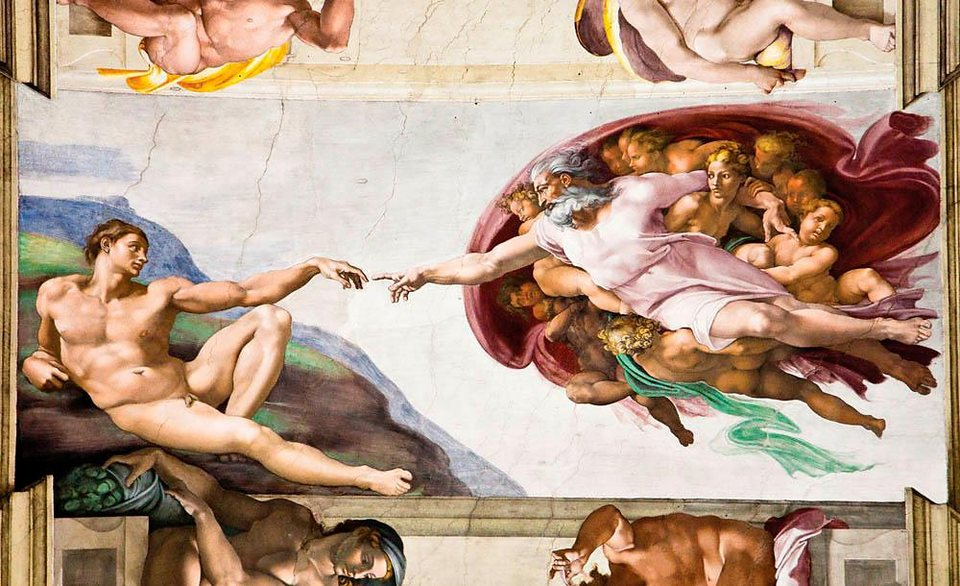Home affaire Fototapete »Michelangelo«, 368/254 cm in creme/braun