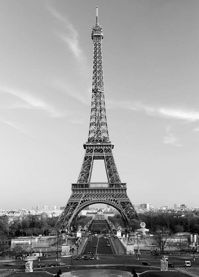 Home affaire Fototapete »Der Eiffelturm«, 183/254 cm in grau