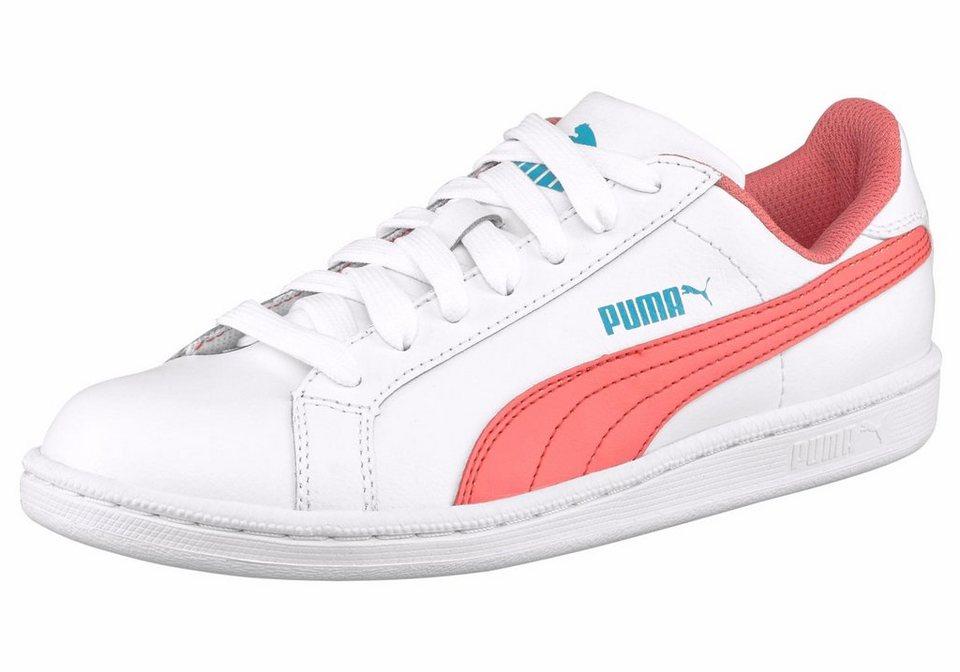PUMA Sneaker »Smash FUN L Junior« in weiß-apricot
