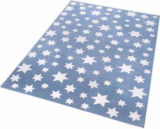 Kinderteppich »Jeans Star«, Wecon home, rechteckig, Höhe 8 mm, Sterne