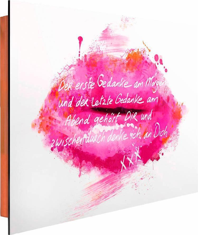 Home affaire Deco Panel »Jacksart - Rosa Lippen«, 90/60 cm