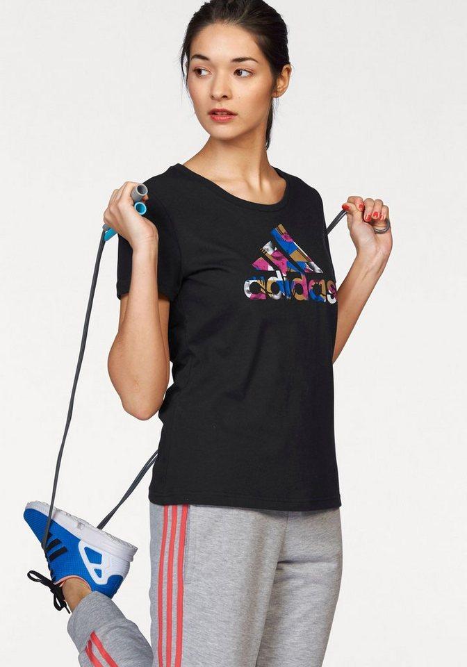 adidas Performance T-Shirt »FOIL LOGO TEE« in schwarz