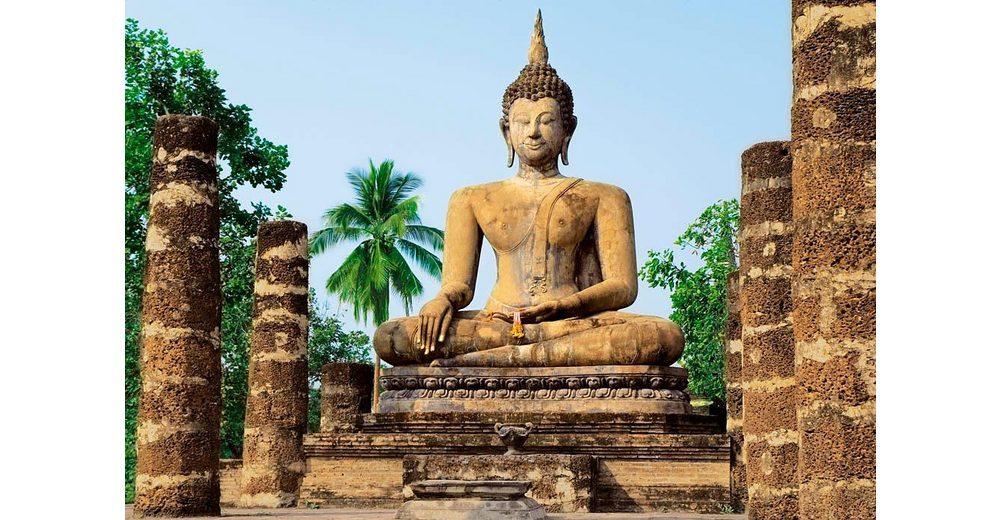Home affaire Fototapete »Sukhothai, Wat Sra Si Tempel«, 366/254 cm
