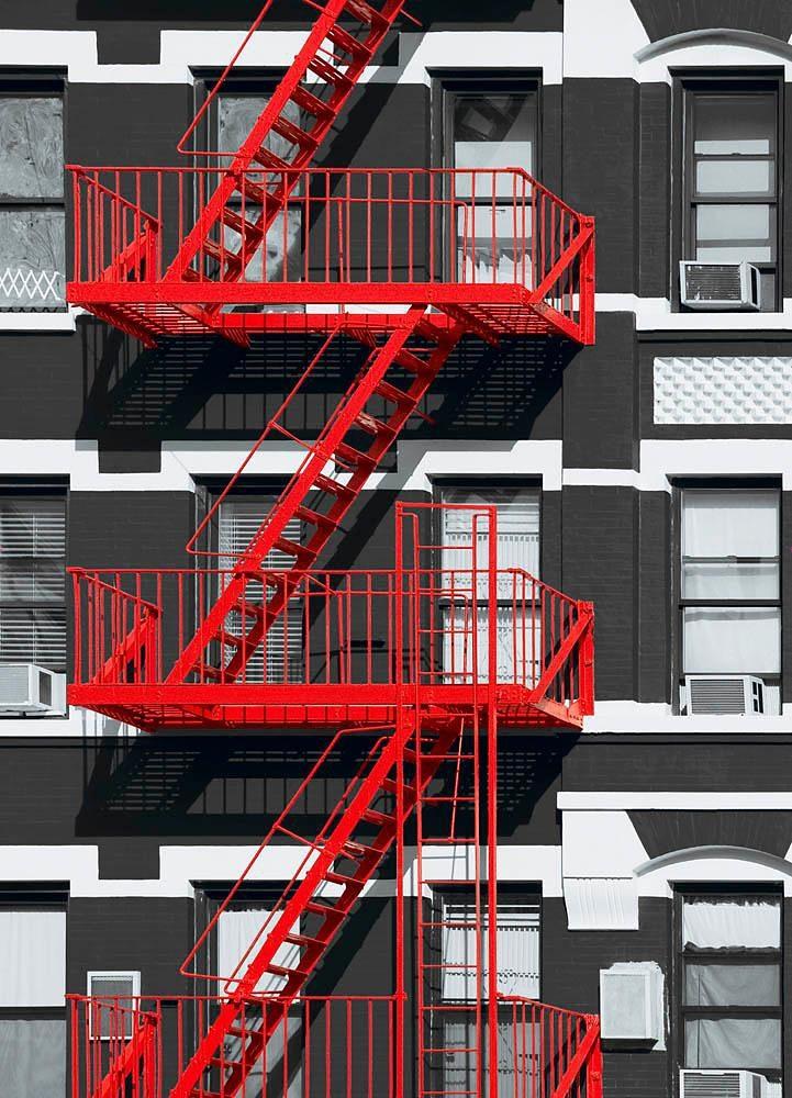 Home affaire Fototapete »Feuerleiter«, 183/254 cm