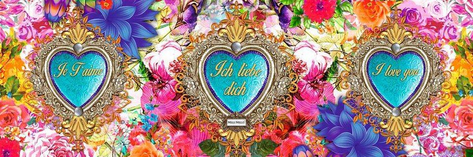 Home affaire Deco Panel »Melli Mello - love hearts«, 90/30 cm in bunt