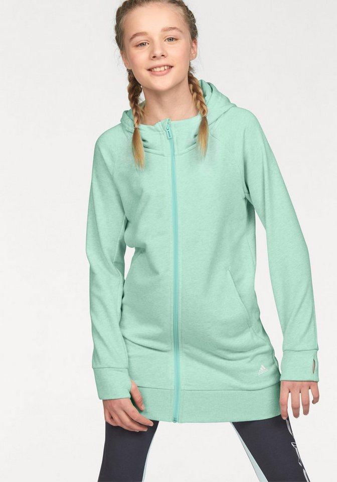 adidas performance kapuzensweatjacke athletics full zip hoodie online kaufen otto. Black Bedroom Furniture Sets. Home Design Ideas