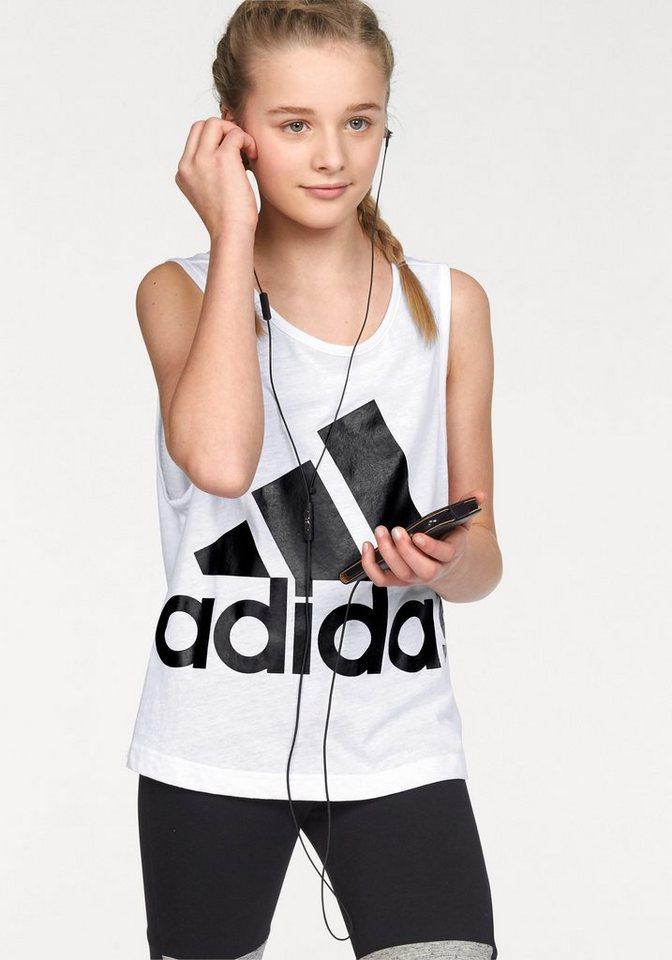 adidas Performance Tanktop »ATHLETICS SLEEVELESS TEE« in weiß