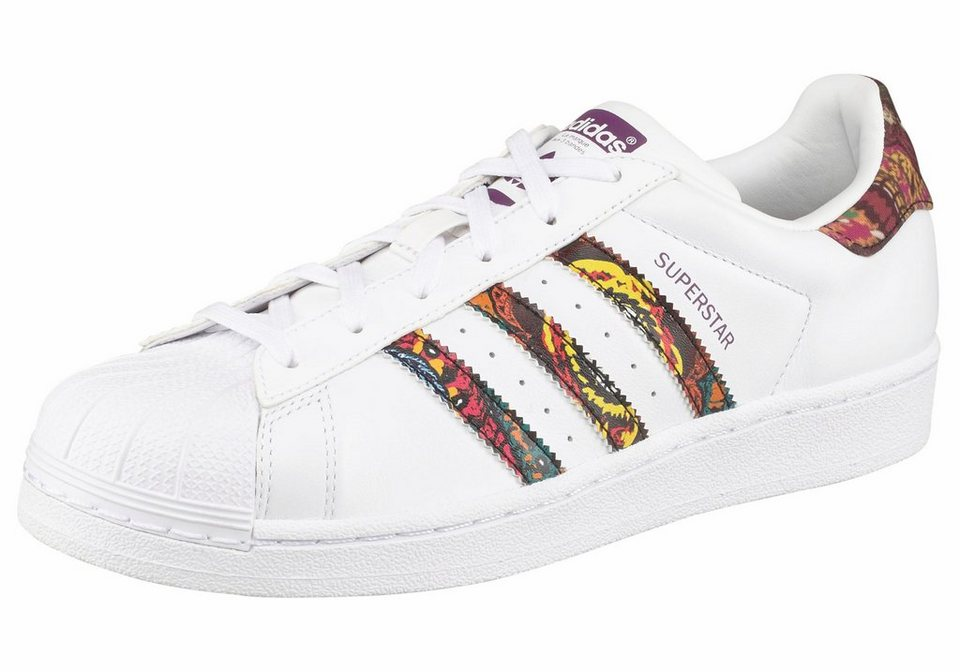 adidas Originals »Superstar Farm« Sneaker in weiß-bunt