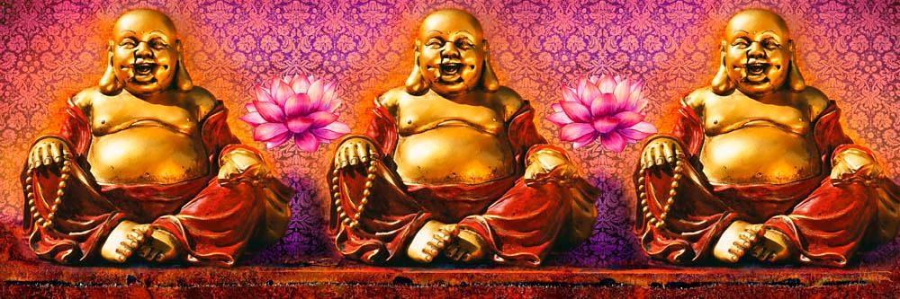 Home affaire Deco Panel »Buddhas«, 90/30 cm