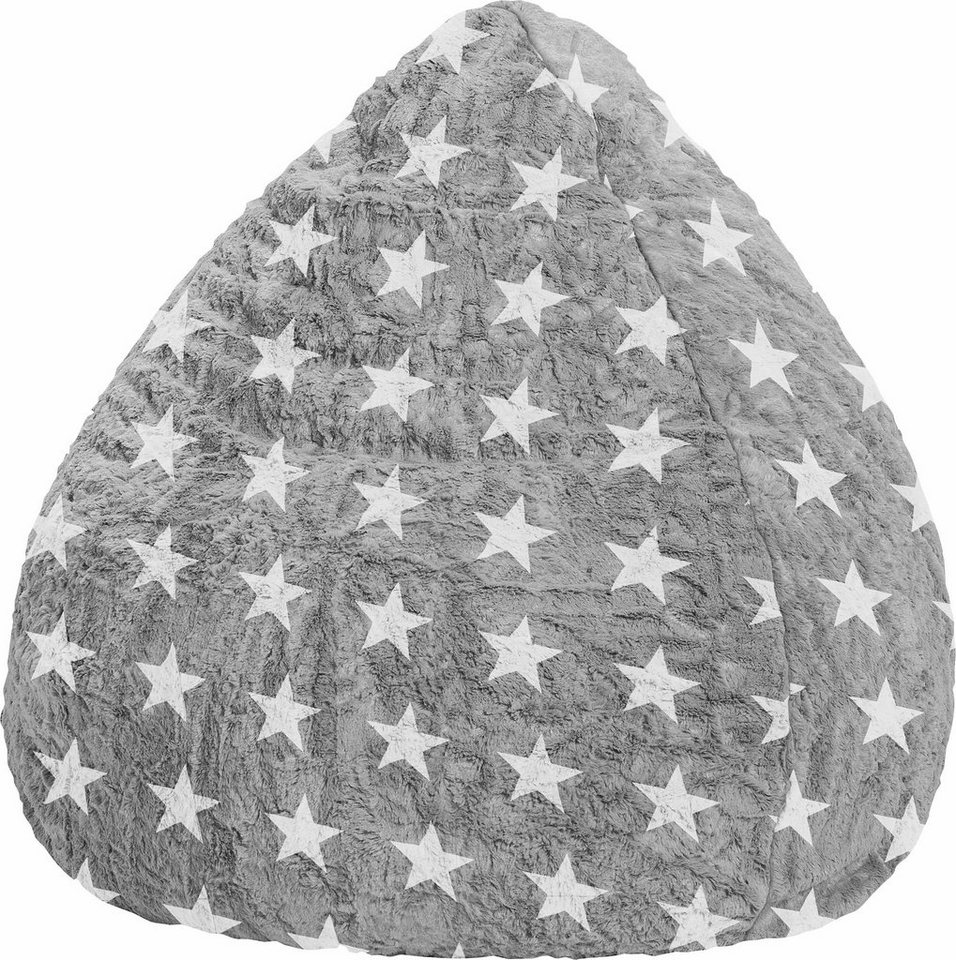 Sitting Point Sitzsack »Fluffy Stars XL« in grau