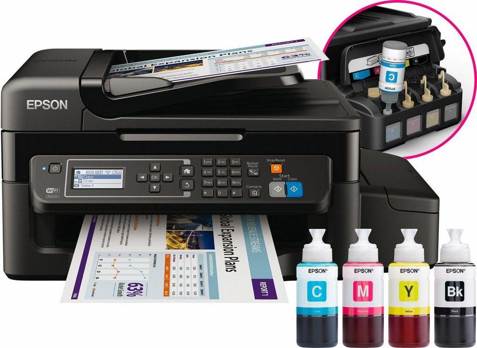 Epson EcoTank ET-4500 Multifunktionsdrucker in schwarz