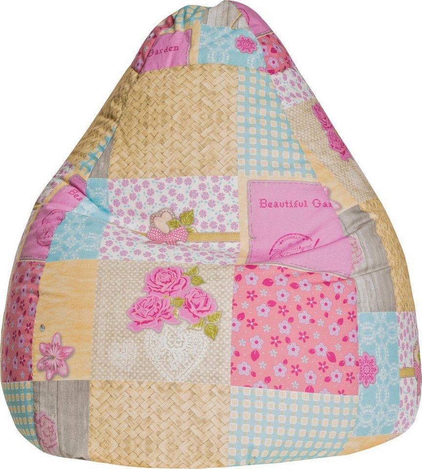 Sitting Point Sitzsack »Patchwork L« in pink