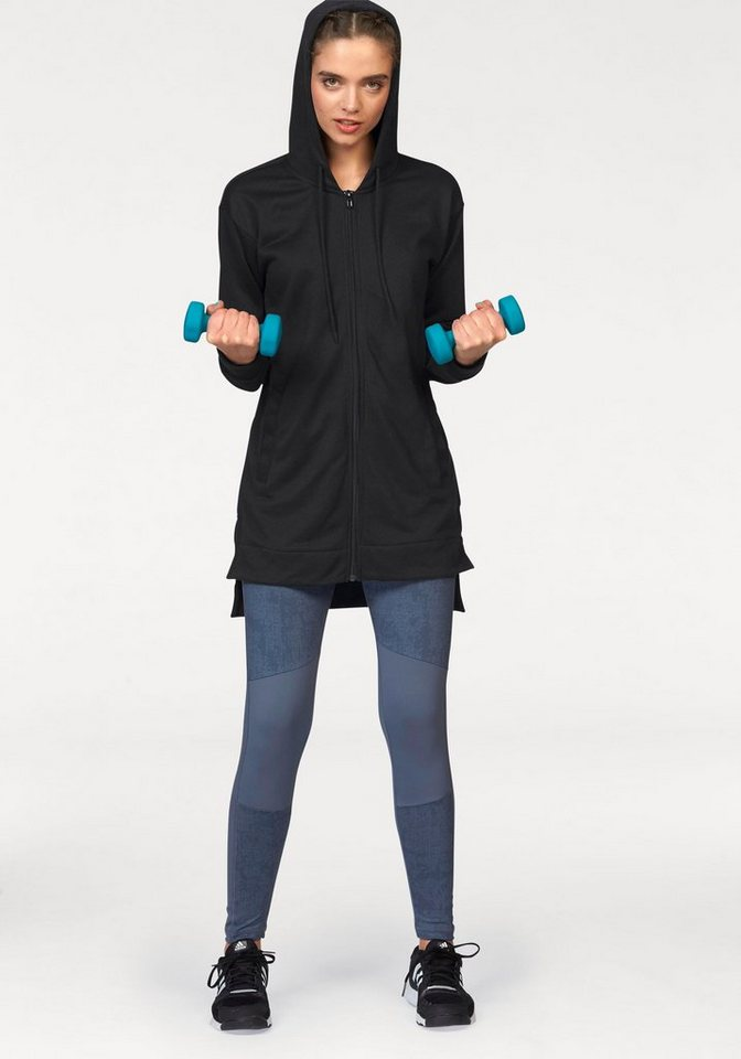adidas Performance Sportanzug »TIGHT AND HOODY SUIT« in schwarz-blau