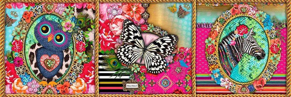 Home affaire Deco Panel »Melli Mello - Anne«, 90/30 cm in bunt