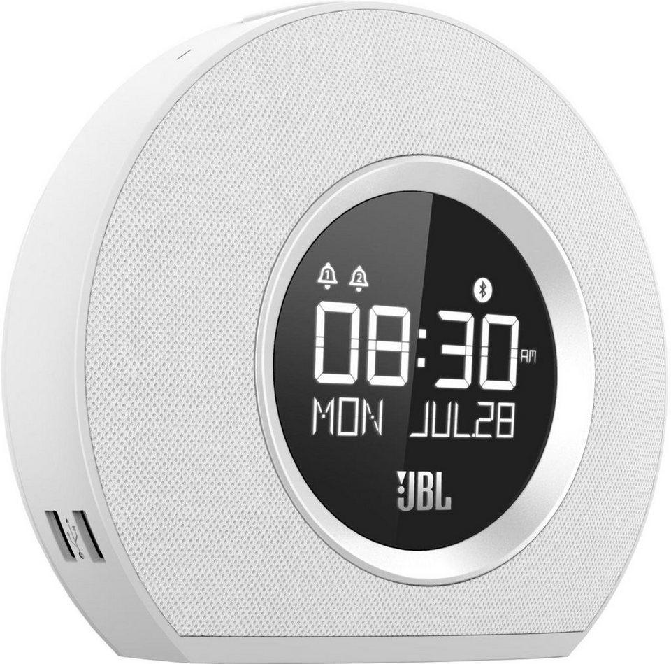 JBL Horizon Uhrenradio Bluetooth 2x USB in weiß